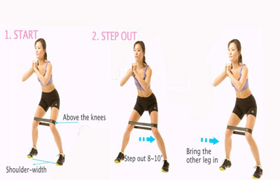 mooie billen en benen trainen met de side Walk