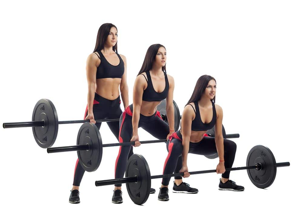 rugspieren trainen met de barbell deadlift